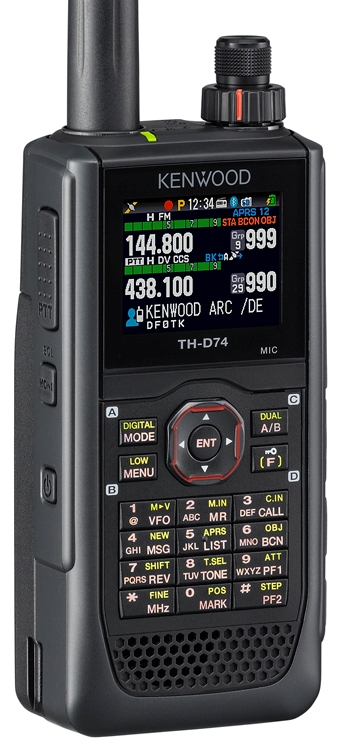 KENWOOD TH-D74E , 144/430MHz, APRS + D-STAR, GPS
